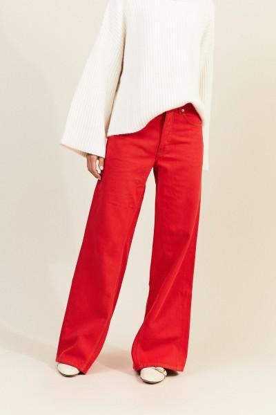 Jeans mit Schlag Rot