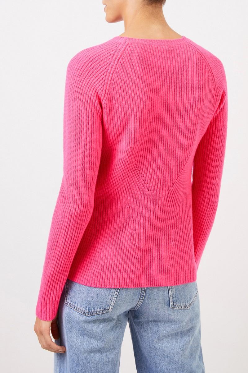 UZWEI Cashmere-Pullover mit Strickdetail Pink