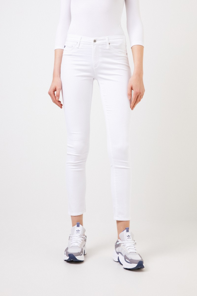 AG Jeans Skinny Jeans 'The Prima' Weiß
