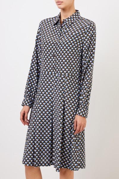 Steffen Schraut Silk blouse dress with print Multi