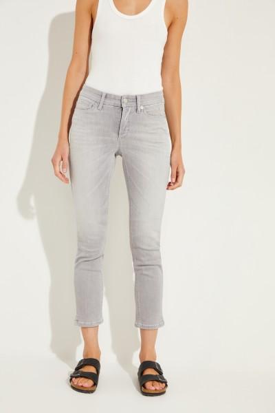 Jeans 'Piper' mit Nietendetails Grau