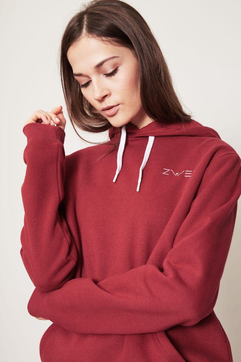 Kapuzen-Sweatshirt Raspberry