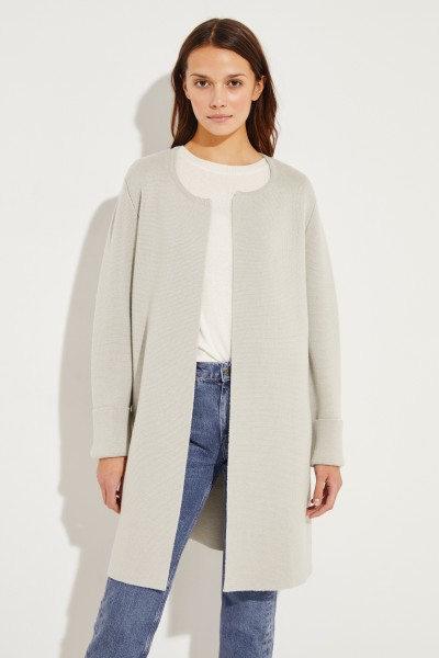 Classic knitted coat sage