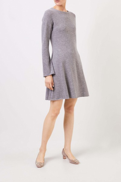 Allude Classic wool cashmere dress Grey