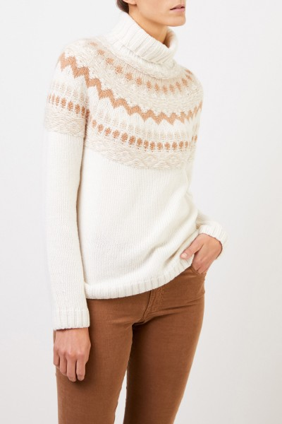 Iris von Arnim Hand-woven cashmere pullover 'Hereford' Ecur/Camel