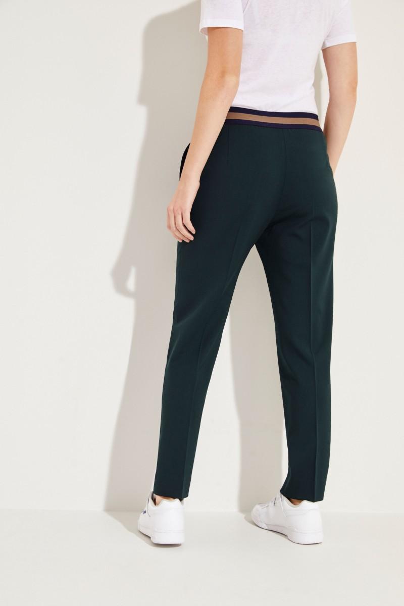 Woll-Hose mit elastischem Bund 'Irina' Grün