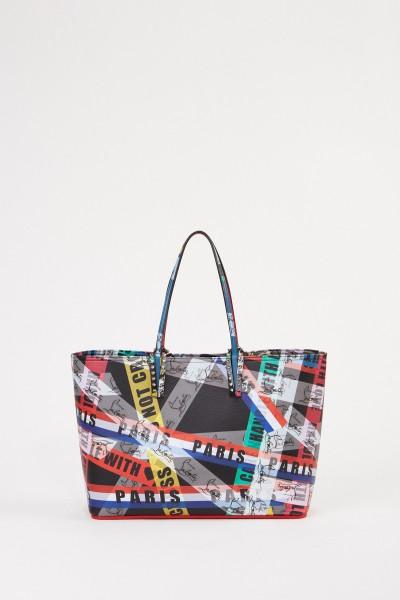 Christian Louboutin Shopper 'Cabata Loubiballage' with print Multi