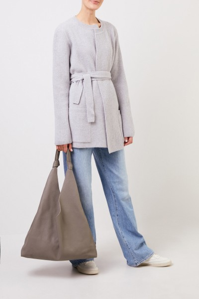 The Row Leather shopper 'Bindle Two' Grey