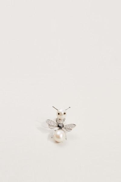 Ohrstecker 'Bee' 18K Weißgold