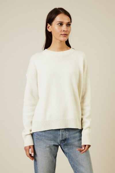 Woll-Cashmere-Pullover Écru