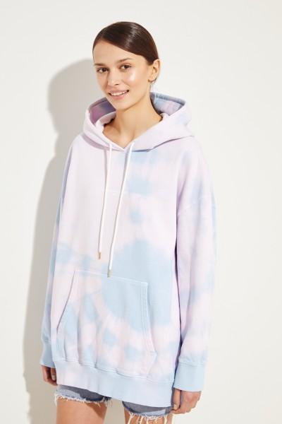 Hoodie mit Batik-Print Rosé/Blau