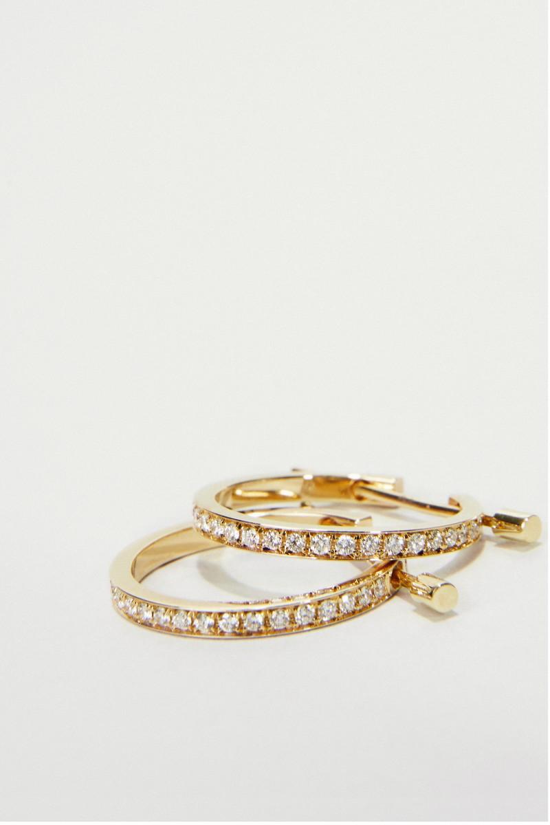 Ohrringe 'Chikka Large' mit Diamanten Gelbgold