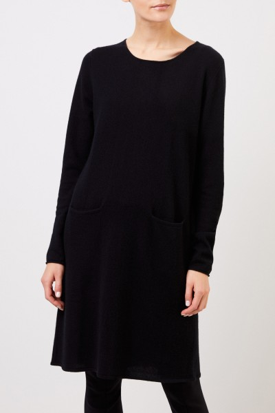 Allude Classic Cashmere Knitted Dress Black
