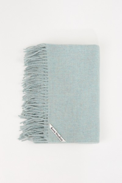 Acne Studios Classic wool scarf 'Canada New' Mint mottled
