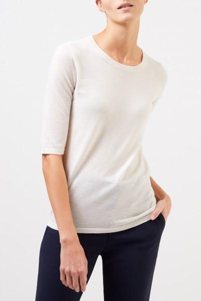 Iris von Arnim Short sleeve cashmere pullover 'Lyv' Ecru