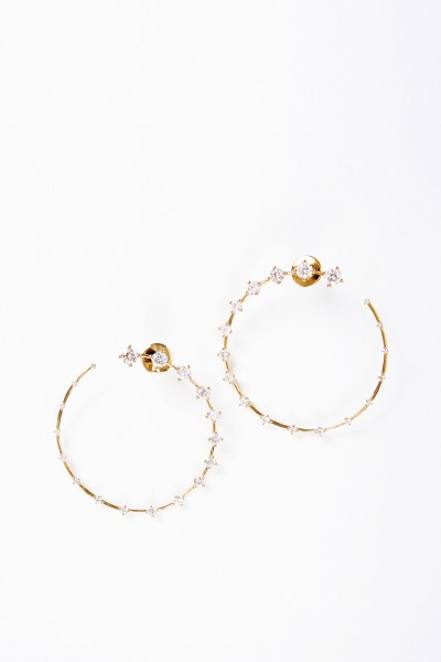 Fernando Jorge Earrings 'Circle Large' with diamonds Yellow Gold