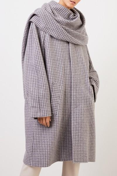 Balenciaga Wool coat with shawl detail Grey