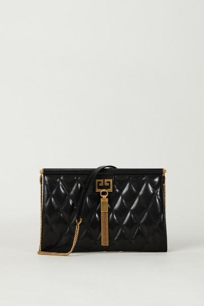 Clutch 'Gem Medium' aus Leder Schwarz