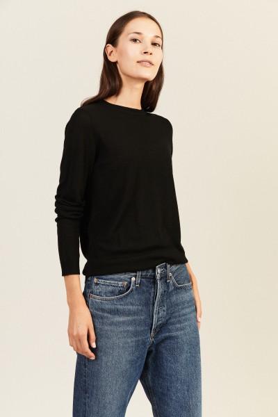 Woll-Pullover Schwarz