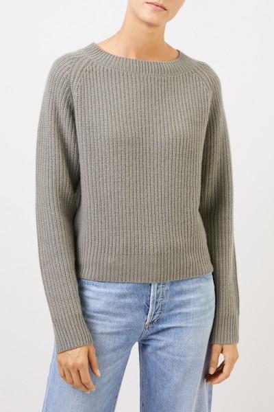 UZWEI Rippstrick-Cashmere-Pullover Salbei