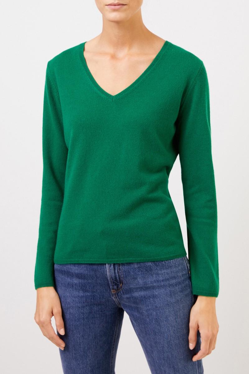 Uzwei Cashmere-Pullover mit V-Neck Grün