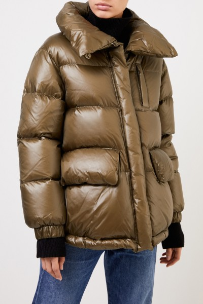 Woolrich Down jacket with shine Black