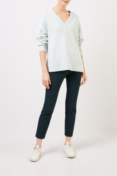 Cashmere sweater with V-neck Mint