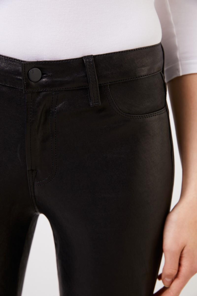 J Brand Lederhose mit Zipper-Details Schwarz