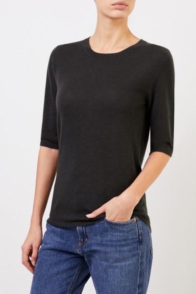 Iris von Arnim Short sleeve cashmere pullover 'Lyv' Green