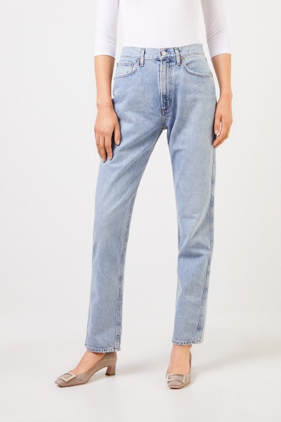 AGOLDE Highrise-Jeans'Tamryn' Blue