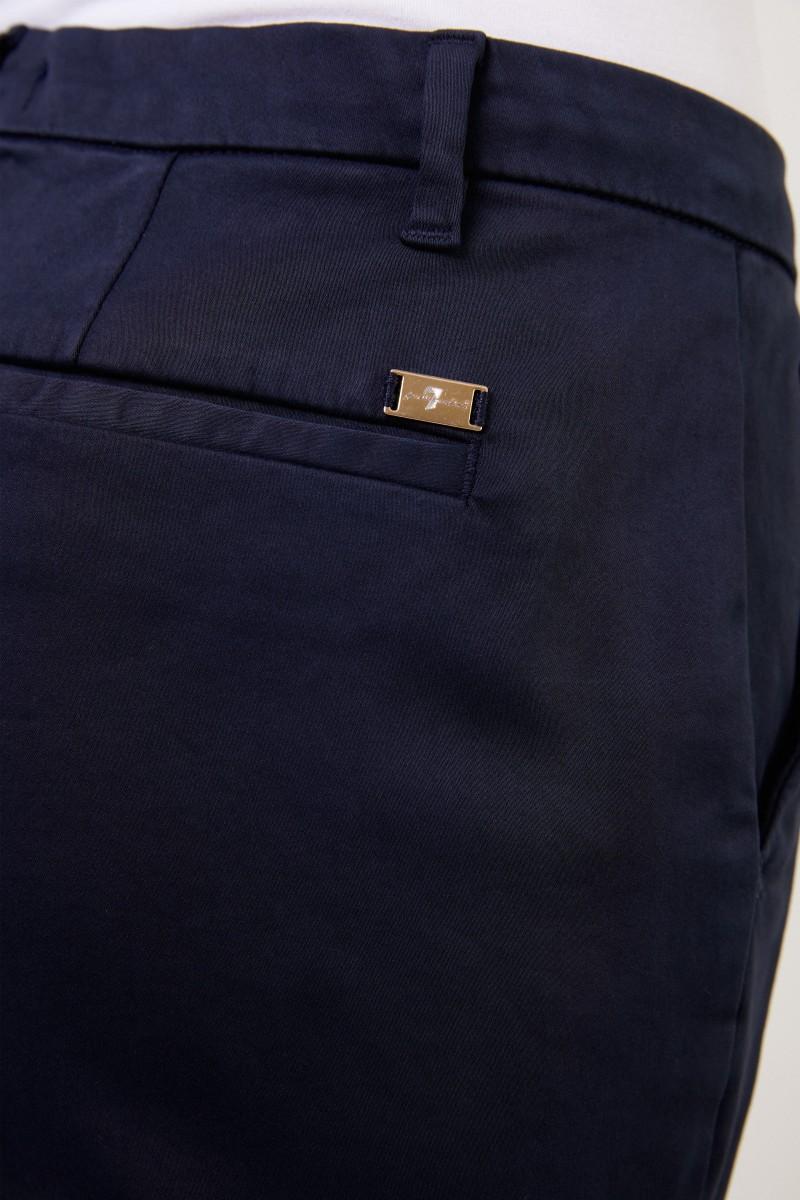 7 for all mankind Klassische Chino-Hose Marineblau