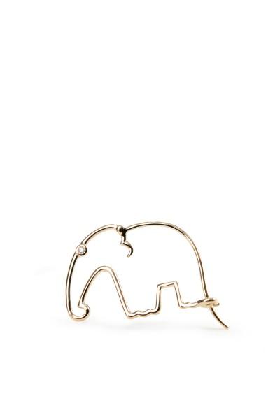 Yvonne Leon Earring 'Elephant' Gold