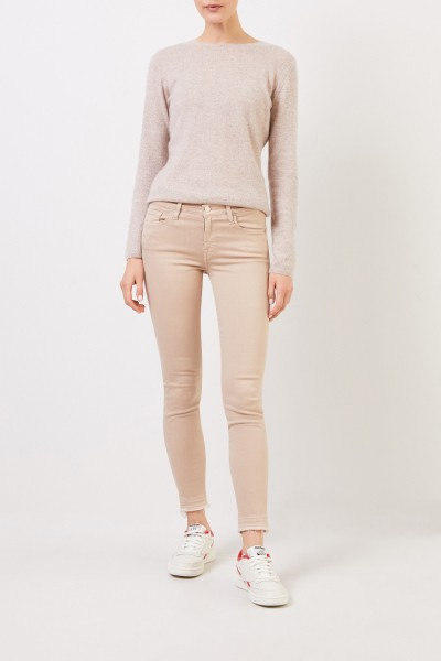 7 for all mankind Skinny Jeans 'Skinny Cropoped' Beige