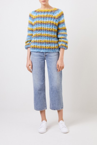 Grobstrick Cashmere-Pullover 'Leny' Multi