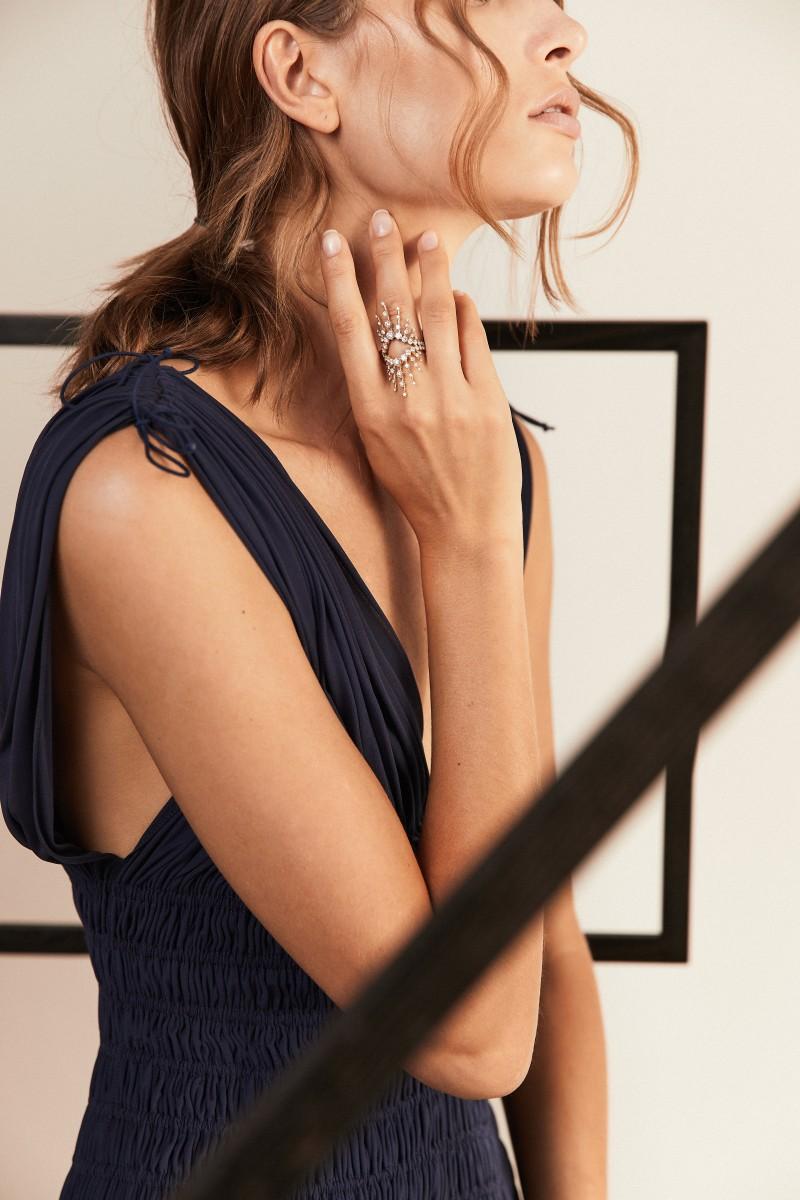 Ring 'Radiant Ring' mit Diamanten 18k Roségold