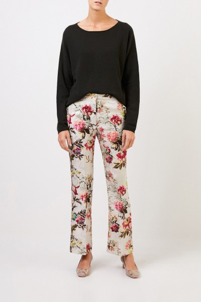 Etro Trousers with floral print Beige/Multi
