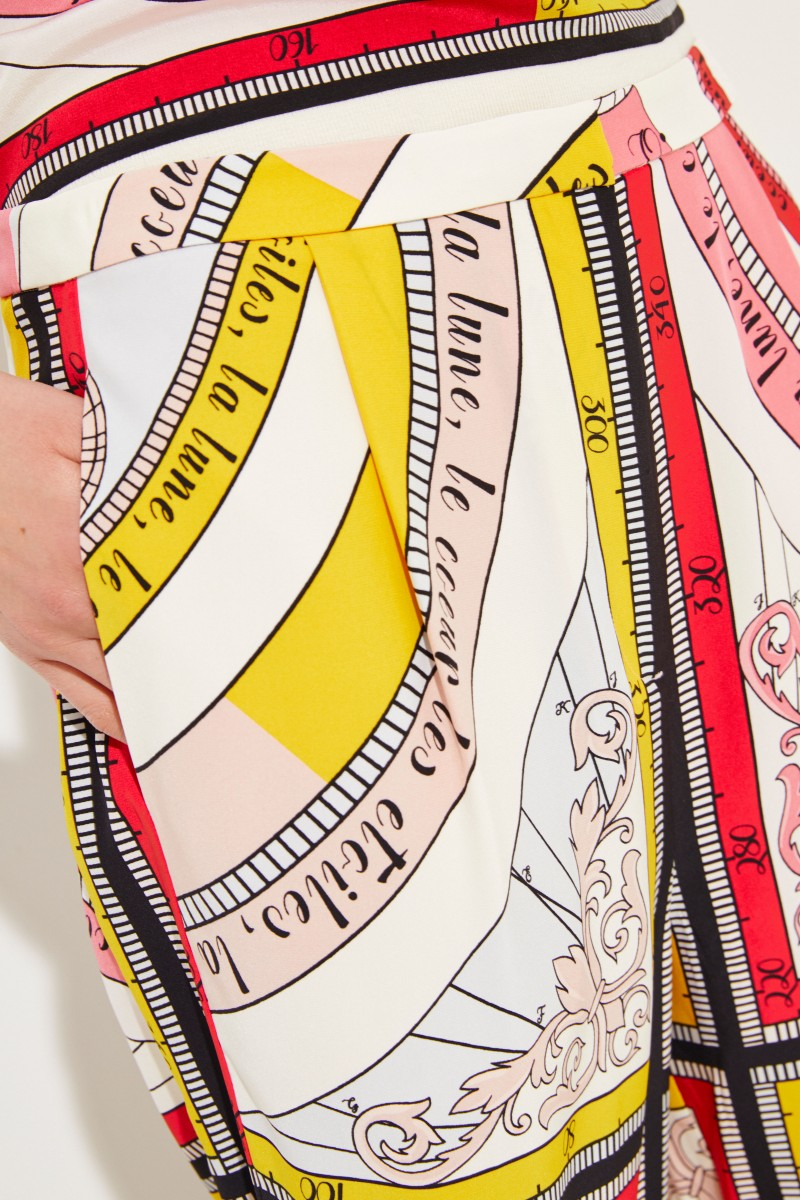 Seiden-Hose 'Sienna' mit Print Multi