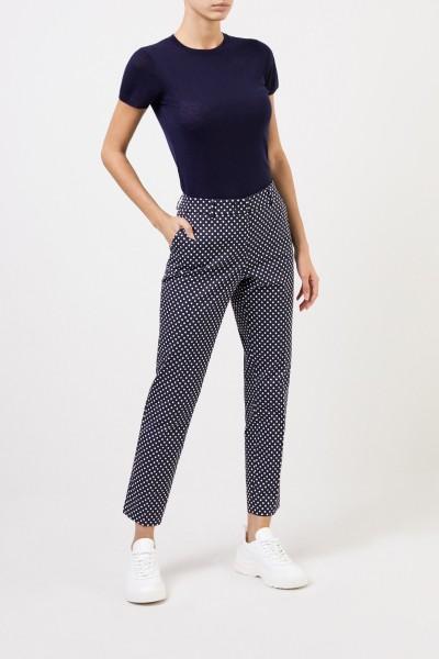 Hose mit Punktemuster Blau/Weiß