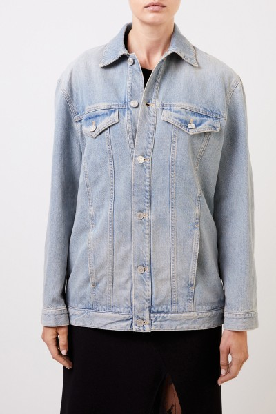 Givenchy Jeans jacket with logo lettering Light Blue