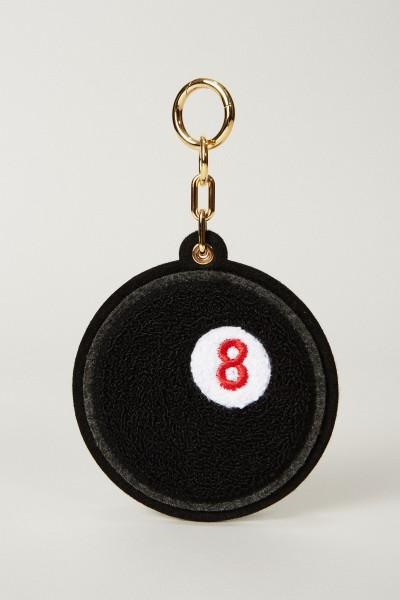 Schlüsselanhänger 'Chenille 8-Ball' Schwarz