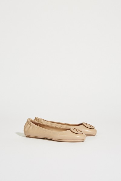 Leder-Ballerina 'Minnie Travel Ballet' Nude