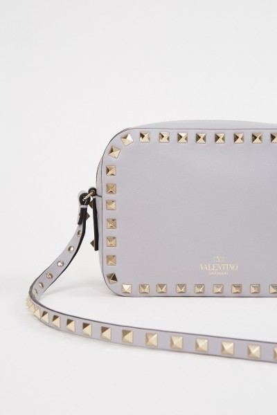 Valentino Shoulder bag ' Rockstuds Camera Bag' Cream