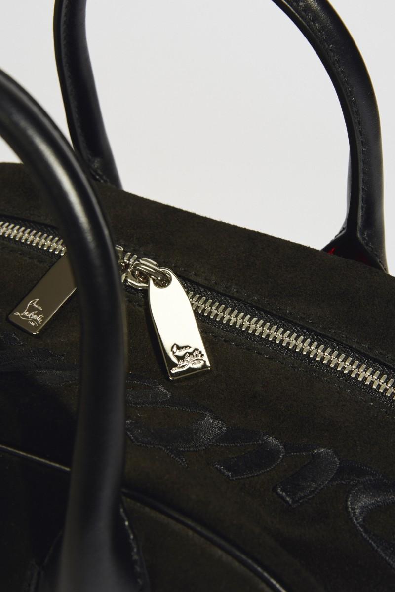Veloursleder-Tasche 'Marie Jane Small' Schwarz