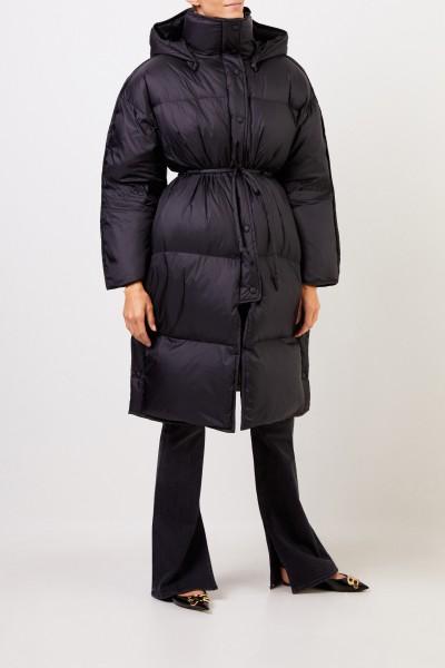 Acne Studios Down coat 'Ottie Nylone Buffer' with hood Black
