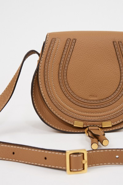 Chloé Umhängetasche 'Marcie Saddle Small' Nut