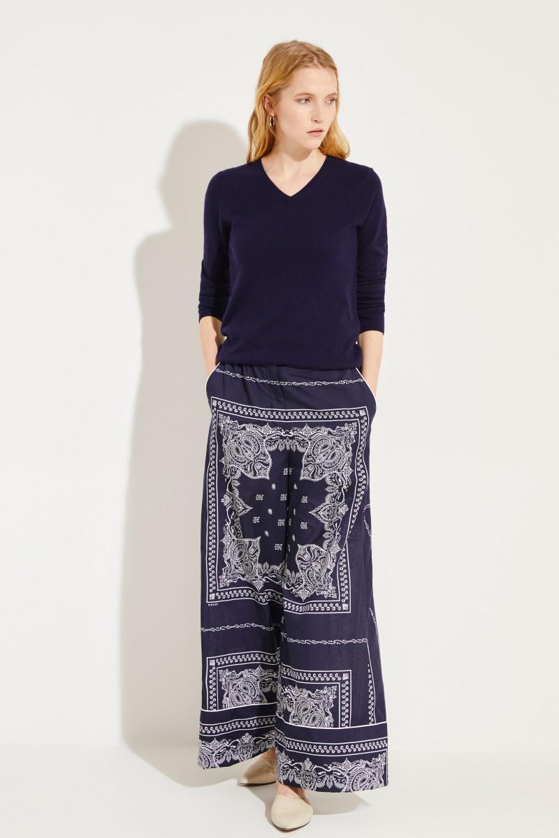 Cashmere-Pullover 'Candice' Marineblau