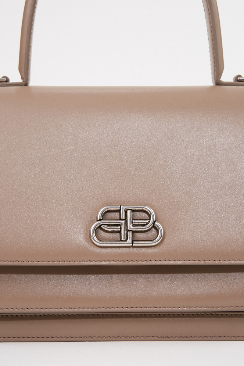 Balenciaga Leather bag 'Sharp S' Beige