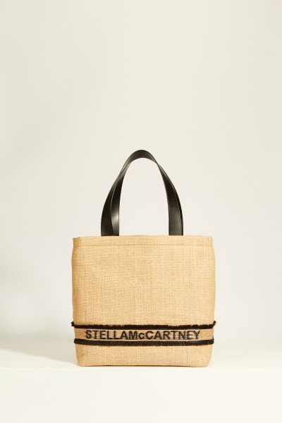 Shopper 'Tote Monogramm Small' with Logo Beige/Black