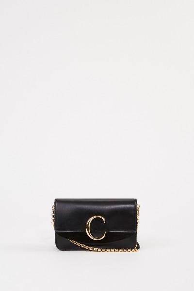 Chloé Shoulder bag 'C on chain' Black