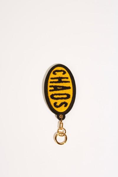 Anhänger 'Chenille Chaos' Gelb/Schwarz